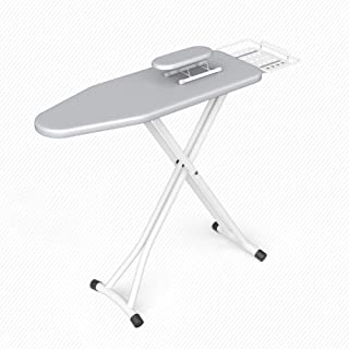 Ironing Board, Lightweight Compact Iron Steam Large Wardrobe Iorning Itoning Short Comfortable Ironing Easy Storage Not Taking Up Space Thickened Tripod Stable Household Folding Iron Pad Board(E)