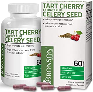 Sponsored Ad - Bronson Tart Cherry Extract + Celery Seed Capsules - Powerful Uric Acid Cleanse, Joint Mobility Support & M...