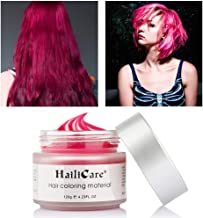 Red Temporary Hair Dye Wax 4.23 oz, HailiCare Instant Colored Hair Color Wax, Natural Hair Pomades Hairstyle Cream Coloring Clay for Men and Women Party, Festival, Cosplay & Halloween