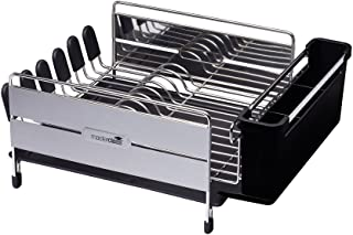 KitchenCraft Master Class - Escurreplatos Horizontal Grande de Acero Inoxidable, 44,5 x 32 x 19,5 cm