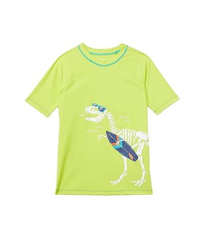 Hatley Kids Dino Fossils Short Sleeve Rashguard (Toddler/Little Kids/Big Kids) (Green) Boy