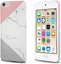 J.west iPod Touch 6th Generation Case, iTouch 5/6/7 Case Unique Marble Design Pink Geometric Anti-Scratch &Fingerprint Sho...