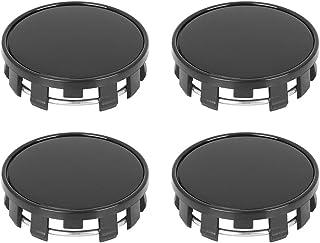 X AUTOHAUX 4 Pcs 54mm 9 Lugs Universal Black Car Wheel Tyre Center Hub Caps Cover Protector