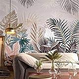 Murale personalizzato 3d foto foresta pluviale tropicale pianta foglia di palma decorazione d'interni murale tela impermeabile carta da parati soggiorno-250X175cm