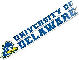 University of Delaware Fightin Blue Hens UD Name Logo Vinyl Decal Laptop Water Bottle Car Scrapbook (8 Inch Sticker)