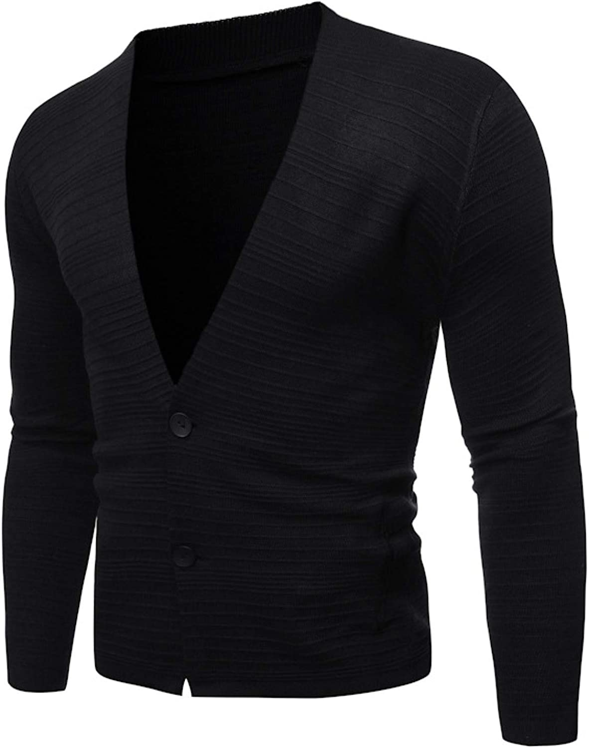 Mens Plain Coloured Knitted Cardigan,Classic Style Cardigans V Neck Button