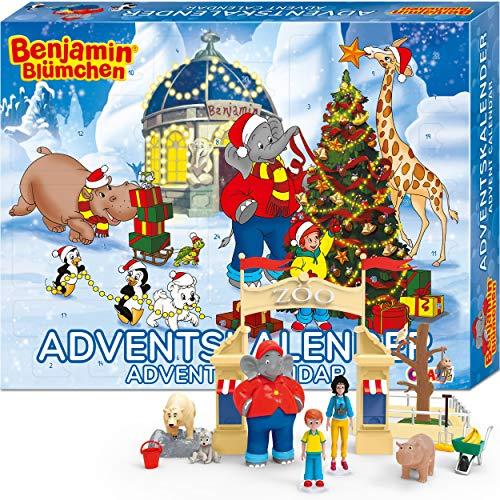 Craze Adventskalender Benjamin BLÜMCHEN Kinder Spielset für Mädchen und Jungen Spielzeug Kalender Spielfiguren 19498