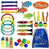Joinfun 28stk Tauchen Spielzeug Pool Spielzeug Tauchringe Kinder Tauchen Kinder Schwimmbad Spielzeug...