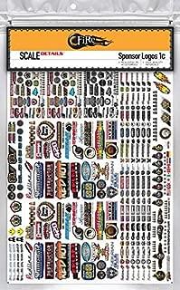 FireBrand RC • SPONSOR LOGO Decals 1C - Scale Details Sticker Sheet