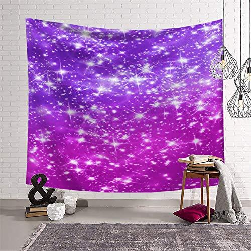 Trelemek Tapiz de pared con purpurina morada, 130 x 150 cm, para colgar en la pared, decoración del hogar, dormitorio, dormitorio