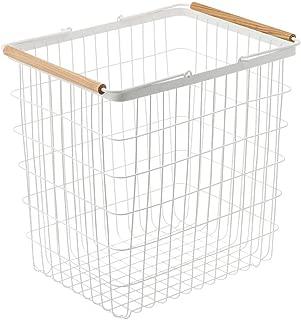 YAMAZAKI home 2810 Tosca Laundry Basket with Wooden Handles, Large