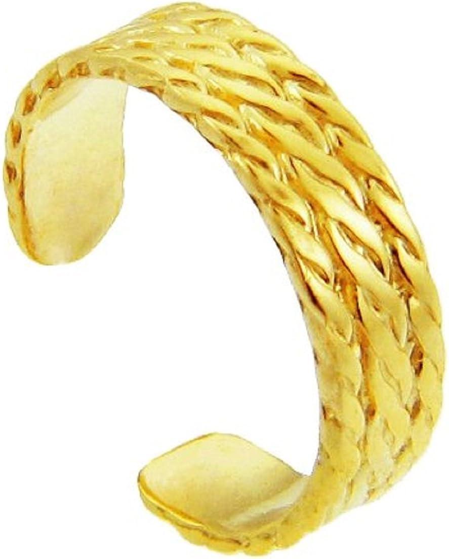 Yellow Gold Bold Milgrain Toe Ring (10K Gold)