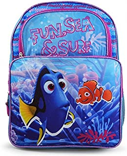 """Disney Pixar Finding Dory """"Fun, Sea and Sun"""" Cargo Backpack – Perfect for School, Traveling, Luggage, Tours – 16"""""""