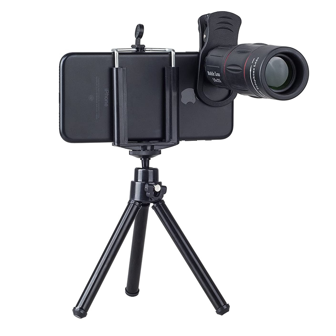 XuBa Telephoto Camera Lens Universal 18X Zoom Telescope Mobile Phone Lens for iPhone Samsung with Tripod
