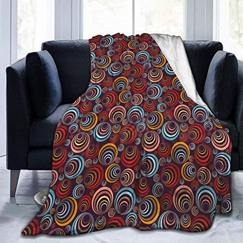 Manta de forro polar ultrasuave para adultos, con diseño de paisaje urbano de fuegos artificiales, suave y cómoda manta de sofá de 152 x 127 cm