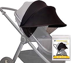O³ Kinderwagen Sonnenschutz Universal // Sonnenverdeck für Baby Buggy, Sportwagen, Babyschale mit UV-Schutz 40 // Pop up Sonnendach Sonnenblende