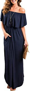 navy blue boho dress