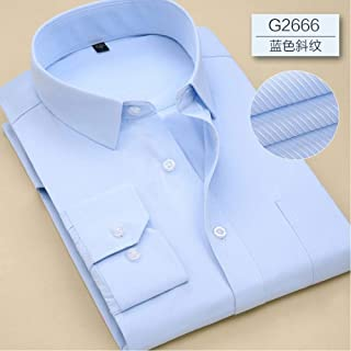 Men'S Long Sleeve Shirt Spring Solid Color Business Office Formal Men'S Dress Shirt Large Size Men'S Shirt 7Xl