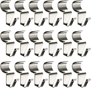 No-Hole Needed Vinyl Siding Hooks for Outdoor Decorations 18 Pack, Heavy Duty Stainless Steel Low Profile No-Hole Hangers