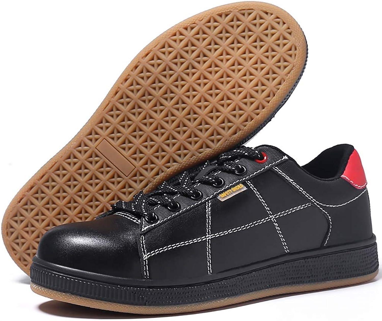 ZYFXZ Sicherheitsschuhe Wasserdichte und lBestendige Arbeitsschuhe für Herren, Stahlkappe, Rutschfeste Schuhe, Anti-Smashing- und Pannenschutzschuhe Arbeitsschuhe (Farbe   A)