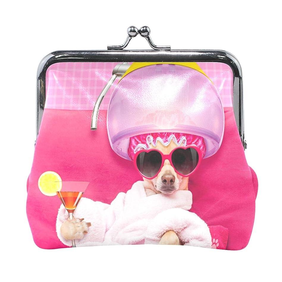 バングラデシュ意見ワイドAOMOKI 財布 小銭入れ ガマ口 コインケース レディース メンズ レザー 丸形 おしゃれ プレゼント ギフト オリジナル 小物ケース 犬柄 可愛い