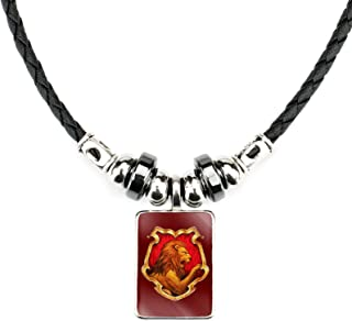 YANYING Collar Personalizado para Hombre, Insignia De Harry Potter, Collar con Colgante De Aleación De Piedras Preciosas