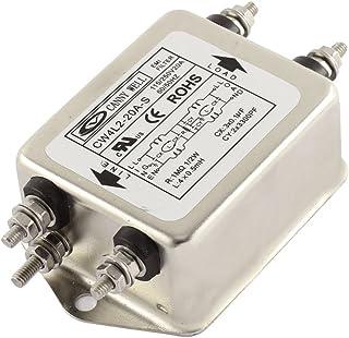 uxcell AC電源ラインEMIフィルター 単相ノイズ AC 115/250V 20A CW4L2-20A-S