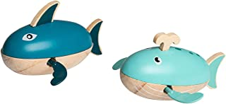 Toyslink Wind-up Water Shark and Whale Toy