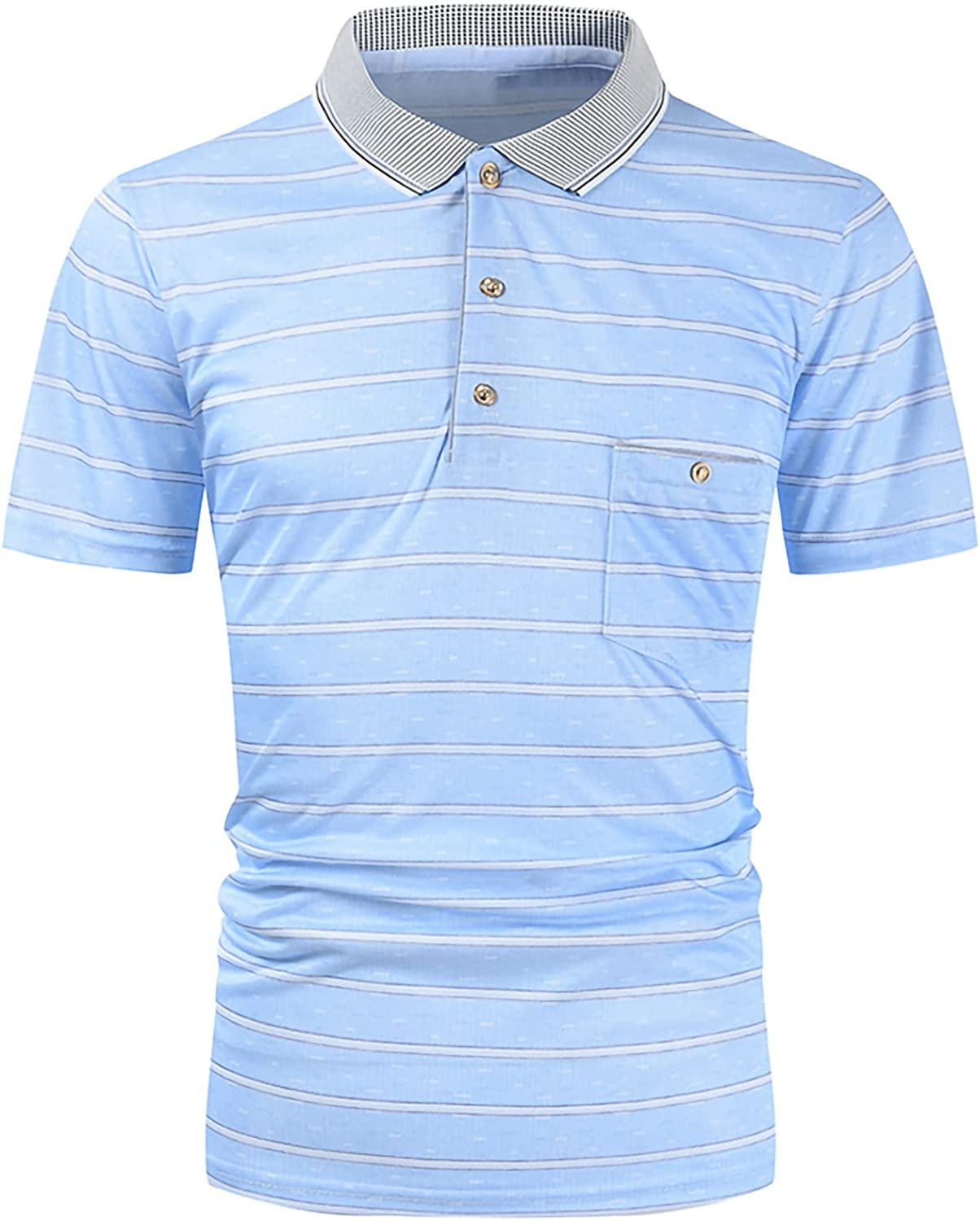 Lravieyew Luxury Men's Polo Shirt Short Sleeve Fit Casual Basic Slim We OFFer at cheap prices De