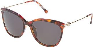 Loewe - SLW935M5607TR Gafas de sol, Brown/Yellow/Red, 56 para Mujer