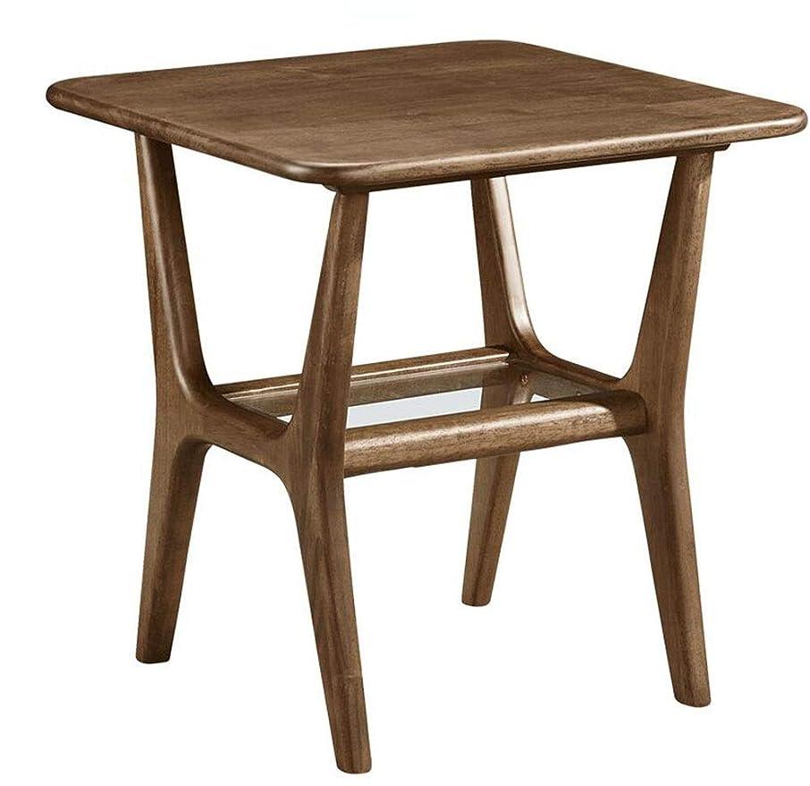 バドミントンとげ不振Axdwfd 折りたたみ式テーブル スクエアテーブル、木製サイドテーブル小さなアパートミニ電話テーブルリビングルームソファサイドキャビネットコーナーテーブル22×22インチ