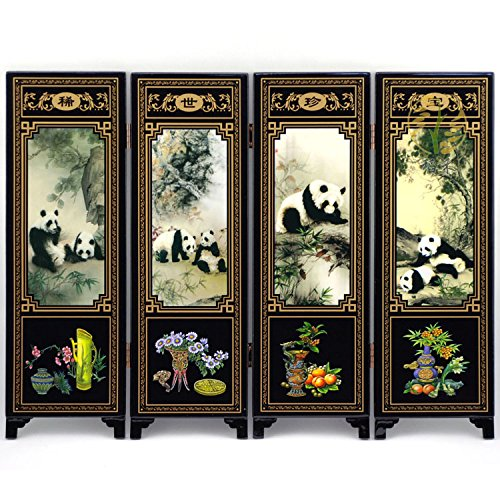Estilo china antigua artesanía en madera Mobiliario de Hogar Oficina Regalos Decoración Panda: Amazon.es: Hogar