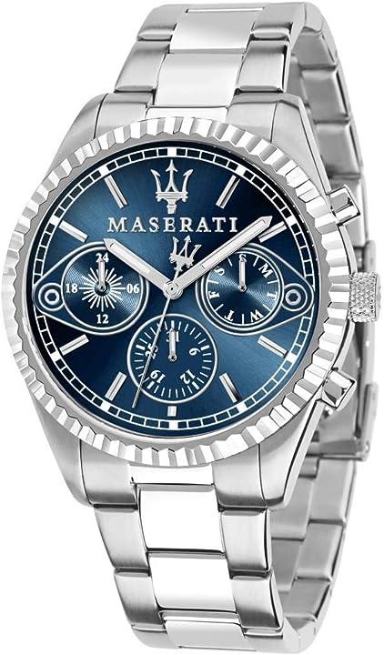 Orologio maserati uomo collezione competizione movimento al quarzo multifunzione in acciaio - r8853100013 8033288853381
