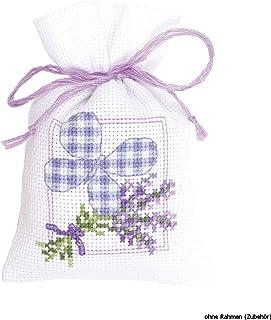 Vervaco Kräutertütchen-Stickpackung im gezählten Kreuzstich, Multicolor/Purple