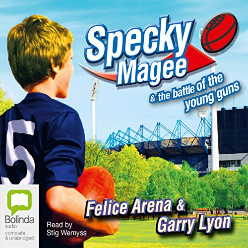 Specky Magee and the Battle of the Young Guns audiobook cover art