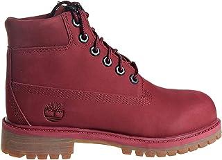 "Timberland Premium 6"" Waterproof Boot Little Kid's Shoes Burgundy tb0a1vke"