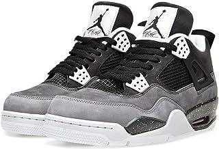 newest 7e440 5dcd6 Nike Mens Air Jordan 4 Retro Fear Pack Black Cool Grey Suede Basketball  Shoes Size