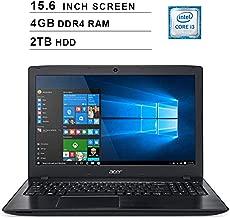 Acer 2019 Aspire E5 15.6 Inch FHD Laptop (Intel Dual Core i3-8130U up to 3.4 GHz, 4GB RAM, 2TB HDD, Intel HD Graphics 620, WiFi, Bluetooth, HDMI, DVD, Windows 10 Home)