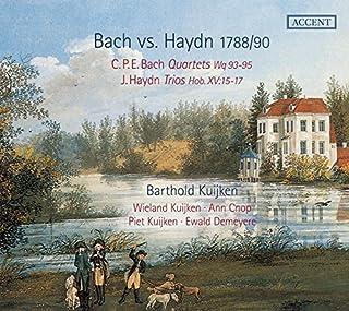 C.P.E. Bach: Quartets Wq 93-95; Haydn: Trios Hob XV:15-17 by Barthold Kuijken