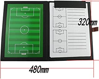 Football Supplies Durable And Reliable Magnetic Coach Board Soccer Tactic Board Set With Pen Clipboard Leather Folding Tac...