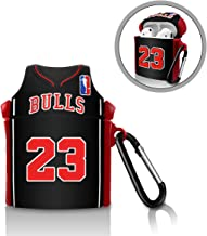 GONJOY Cool Airpod Case, Silicone Cute airpods Case Full Protective AirPods Accessories Skin Cover for Women Girl Boy Men, Compatible with AirPods Wireless Charging Case- NBA Jersey NO.23