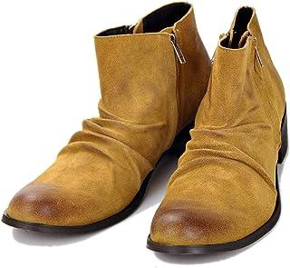 LBZJD Haut-Top Bottes Martin Bottes Hommes Bottes De Cow-Boy en Cuir Bottes De Fermeture Éclair d'origine Chaussures De Ch...