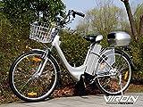 Bici elettrica, 250W, 36V, 66cm–Pedelec bicicletta con motore citybike, Silber