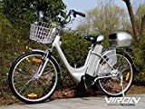 "Viron Elektrofahrrad 250W / 36V E-Bike 26"" Zoll Pedelec Fahrrad mit Motor Citybike (grau)"