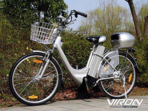 "Viron Elektrofahrrad 250W / 36V E-Bike 26\"" Zoll Pedelec Fahrrad mit Motor Citybike (grau)"