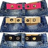 Sister Selected Adjustable Snap Belt for Baby/Toddler Boy & Girl Pant - 3 Pack: (No. 2)