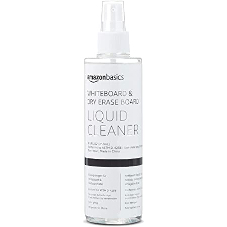 Amazon Basics Dry Erase Liquid Cleaner for Whiteboards - 8.5-Ounce, 1-Pack