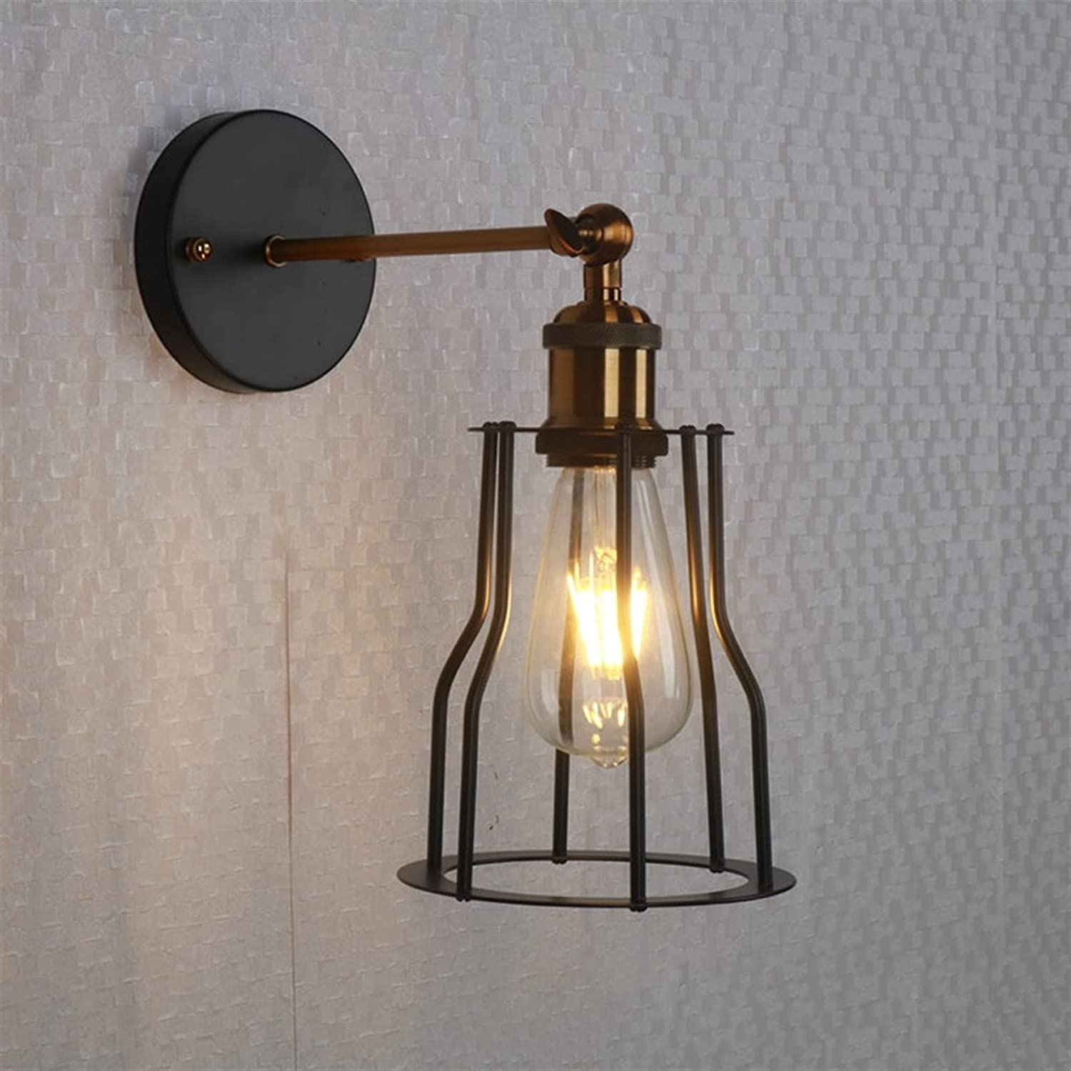 OUUED European Retro Wall Sconces Iron lamp Lights Direct store Quantity limited Indoor Metal