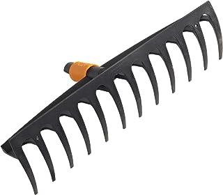 Fiskars Grabie z 12 zębami, Głowica, szerokość: 41 cm, Zęby z tworzywa wzmocnionego włóknem szklanym, Czarno-pomarańczowe,...