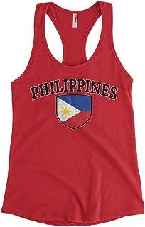 Cybertela Women's Philippines Flag Crest Shield Racerback Tank Top